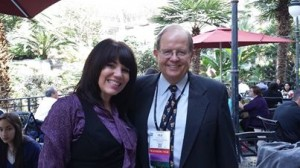 Cheryl Ariaz Wicker with MovieGuide chairman, Ted Baehr.